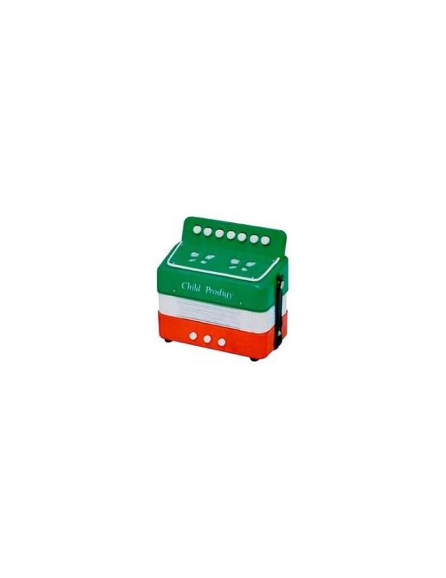 Cx-a024 Acordeón Para Niño 3 Bajos 7 Botones Color Bandera Italia