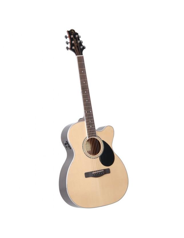 Gom-100rsce Guitarra Electro-acústica Con Corte Y Ecualizador Fishman Isys T