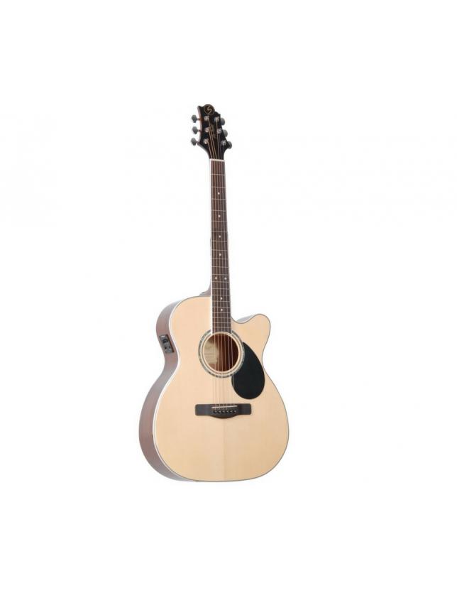 Gom-100sce Guitarra Electro-acústica Con Corte Y Ecualizador Fishman Isys T