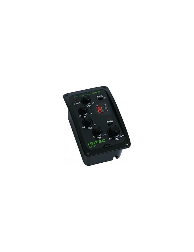 Ceq4 Ecualizador 4 Bandas Con Afinador Digital Cromático Y Switch De Phase Anti Feedback