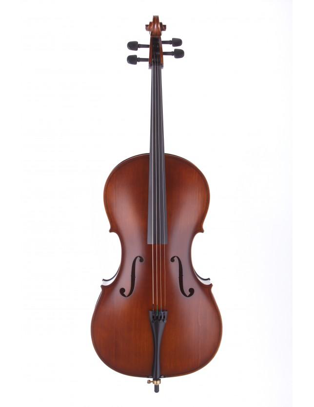 Cello Flame 4/4 Cello De 4/4 Con Fondo De Maple Flameado