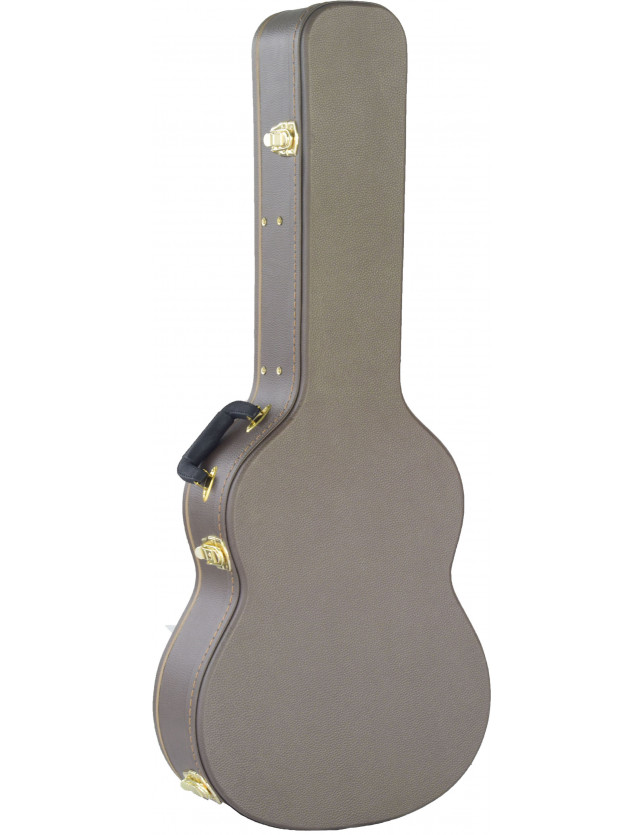 Hge125 Brown Estuche Rígido De Guitarra Acústica