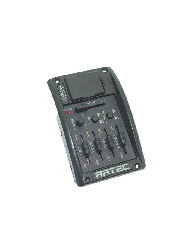 Age-7 Ecualizador Activo 4 Bandas Con Control Mid-tune, Switch Filtro De Corte Y Switch De Eq