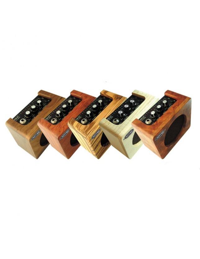 Aa3w Mini Amplificador De Madera Sólida Para Instrumentos Acústicos 5 Watt