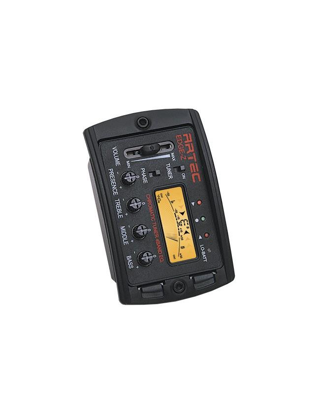 Edge-z Ecualizador 4 Bandas Con Afinador Digital Cromático, Display Color Naranja Y Switch De Phase