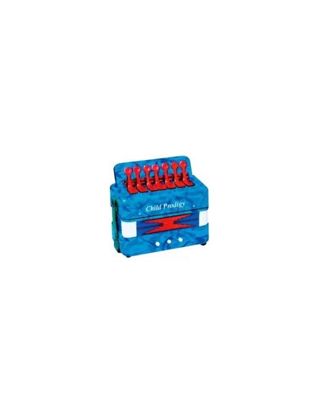 Cx-a019 Acordeón Apara Niños 3 Bajos 7 Botones Color Azul